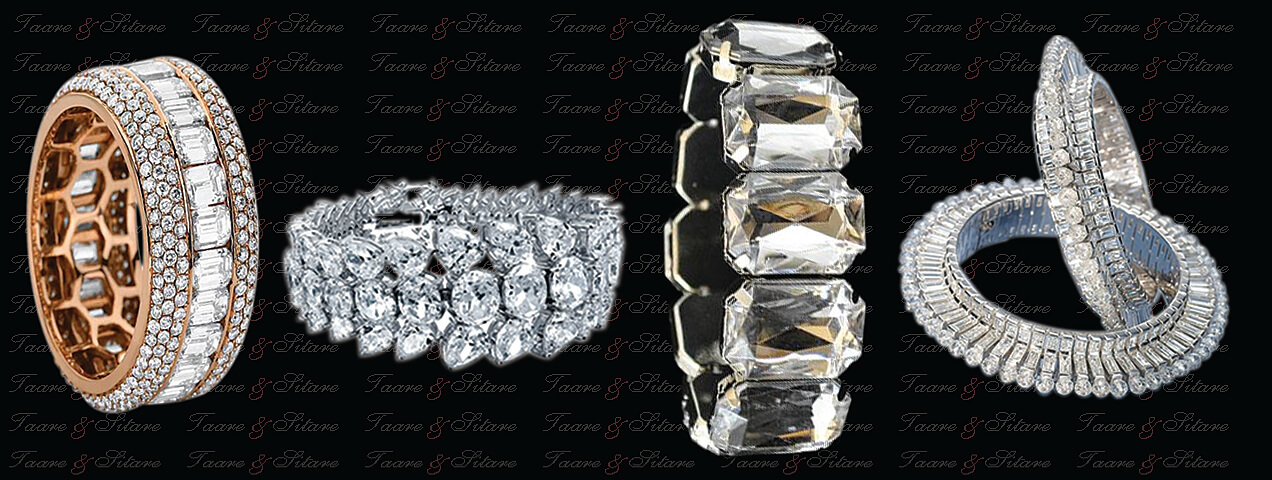 Big diamond bangles / bracelets